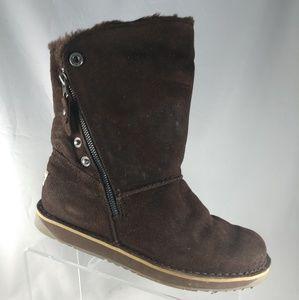 Tamarac Dark Brown Suede Shearling Winter Boots 8